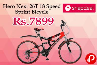 Hero Next 26T 18 Speed Sprint Bicycle