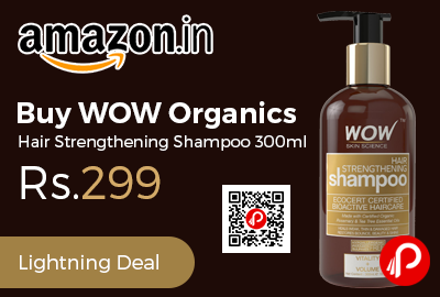 Buy WOW Organics Hair Strengthening Shampoo 300ml