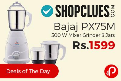 Bajaj PX75M 500 W Mixer Grinder 3 Jars