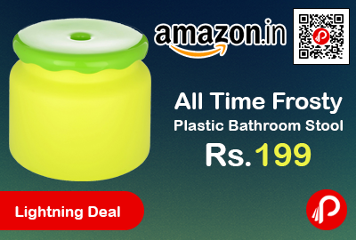 All Time Frosty Plastic Bathroom Stool