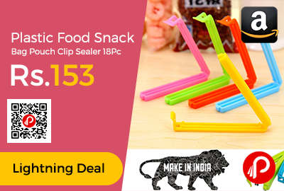 Plastic Food Snack Bag Pouch Clip Sealer 18Pc