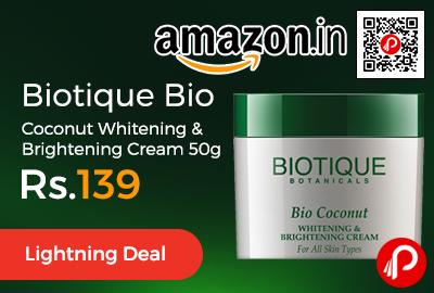 Biotique Bio Coconut Whitening & Brightening Cream 50g