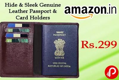 Hide & Sleek Genuine Leather Passport & Card Holders