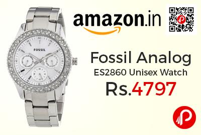 Fossil Analog ES2860 Unisex Watch