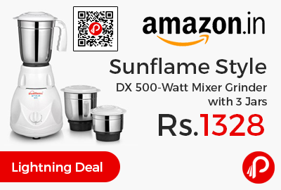 Sunflame Style DX 500-Watt Mixer Grinder with 3 Jars
