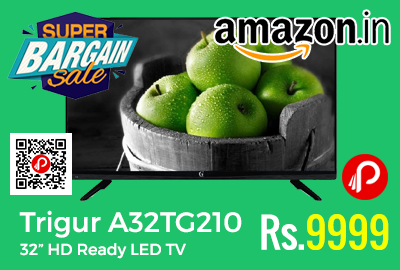 """Trigur A32TG210 32"""" HD Ready LED TV at Rs.9999 Only - Shopclues"""