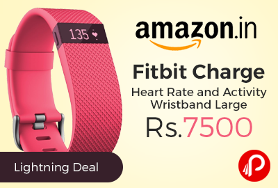 Fitbit Charge Heart Rate and Activity Wristband Large