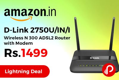 D-Link 2750U/IN/I Wireless N 300 ADSL2 Router with Modem