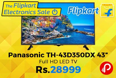"""Panasonic TH-43D350DX 43"""" Full HD LED TV"""