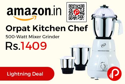 Orpat Kitchen Chef 500-Watt Mixer Grinder