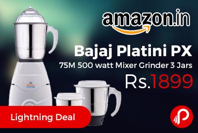 Bajaj Platini PX 75M 500 watt Mixer Grinder 3 Jars