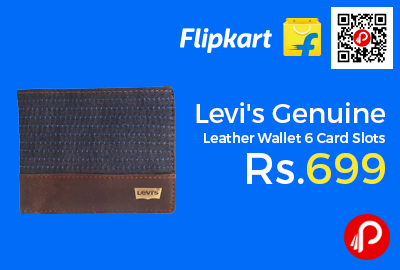 Levi's Genuine Leather Wallet 6 Card Slots