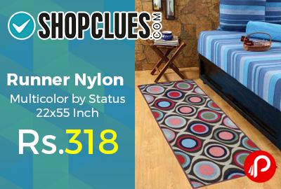 Runner Nylon Multicolor by Status 22x55 Inch