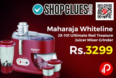 Maharaja Whiteline JX-101 Ultimate Red Treasure Juicer Mixer Grinder