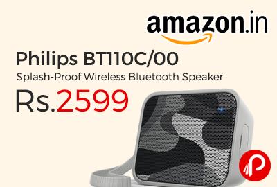 Philips BT110C/00 Splash-Proof Wireless Bluetooth Speaker