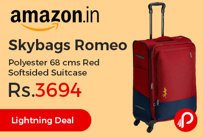 Skybags Romeo Polyester 68 cms Red Softsided Suitcase
