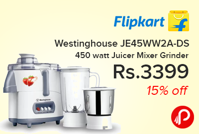 Westinghouse JE45WW2A-DS 450 watt Juicer Mixer Grinder