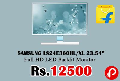 """SAMSUNG LS24E360HL/XL 23.54"""" Full HD LED Backlit Monitor"""