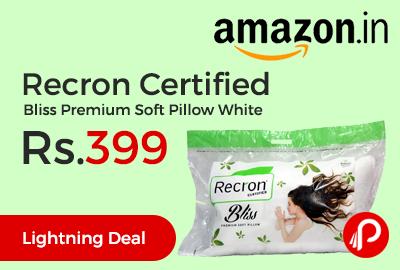 Recron Certified Bliss Premium Soft Pillow White