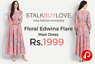 Floral Edwina Flare Maxi Dress