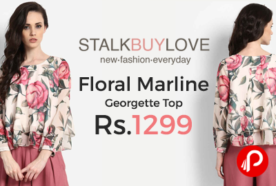 Floral Marline Georgette Top
