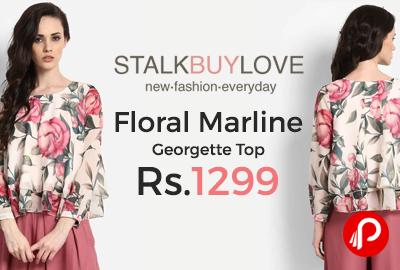 Floral Marline Georgette Top
