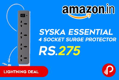 Syska Essential 4 Socket Surge Protector