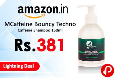 MCaffeine Bouncy Techno Caffeine Shampoo 150ml