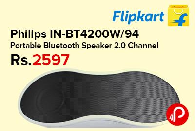 Philips IN-BT4200W/94 Portable Bluetooth Speaker