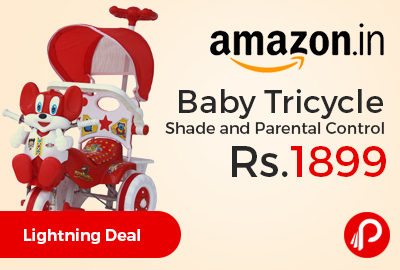 Baby Tricycle Shade and Parental Control