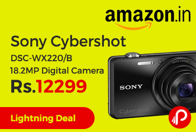 Sony Cybershot DSC-WX220/B 18.2MP Digital Camera