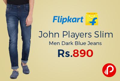 John Players Slim Men Dark Blue Jeans