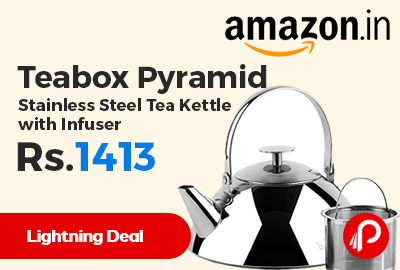 Teabox Pyramid Stainless Steel Tea Kettle with Infuser