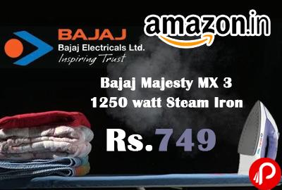 Bajaj Majesty MX 3 1250 watt Steam Iron