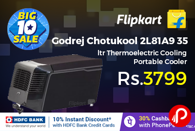 Godrej Chotukool 2L81A9 35 ltr Thermoelectric Cooling Portable Cooler