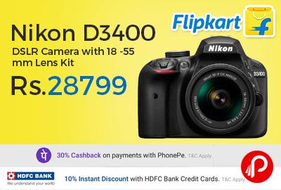 Nikon D3400 DSLR Camera with 18 -55 mm Lens Kit