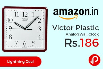 Victor Plastic Analog Wall Clock