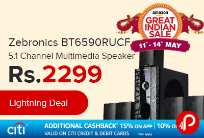 Zebronics BT6590RUCF 5.1 Channel Multimedia Speaker