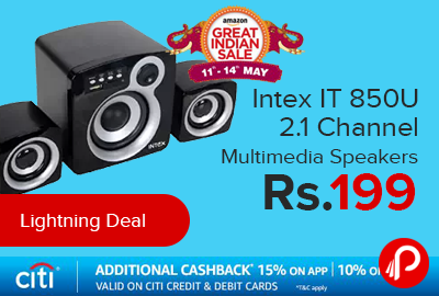 Intex IT 850U 2.1 Channel Multimedia Speakers