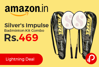 Silver's Impulse Badminton Kit Combo at Rs.469 Only - Amazon