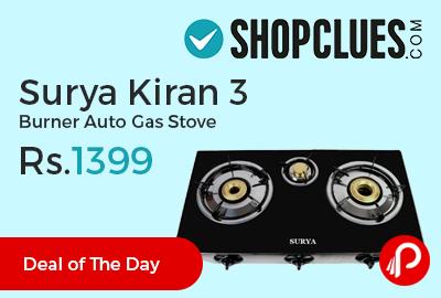 Surya Kiran 3 Burner Auto Gas Stove