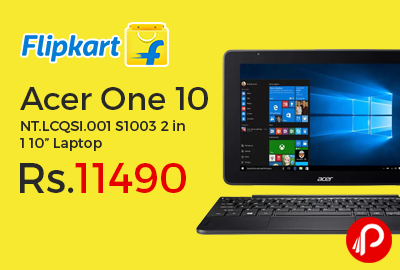 """Acer One 10 NT.LCQSI.001 S1003 2 in 1 10"""" Laptop"""