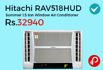 Hitachi RAV518HUD Summer 1.5 ton Window Air Conditioner