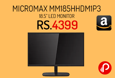 """Micromax MM185HHDM1P3 18.5"""" LED Monitor"""