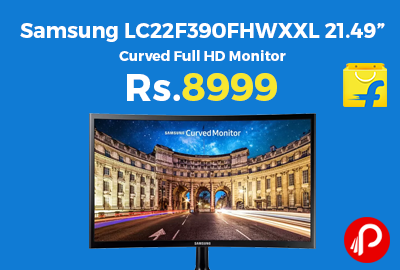 """Samsung LC22F390FHWXXL 21.49"""" Curved Full HD Monitor"""