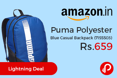 Puma Polyester Blue Casual Backpack