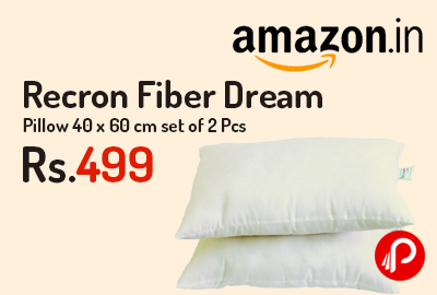 Recron Fiber Dream Pillow 40 x 60 cm set of 2 Pcs