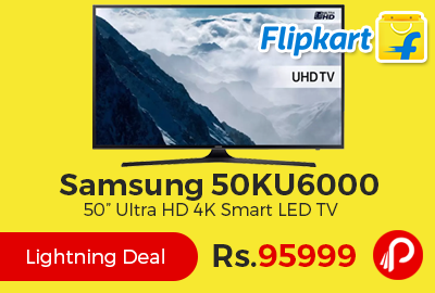 "Samsung 50KU6000 50"" Ultra HD 4K Smart LED TV"