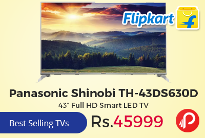 "Panasonic Shinobi TH-43DS630D 43"" Full HD Smart LED TV"