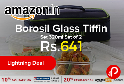 Borosil Glass Tiffin Set 320ml
